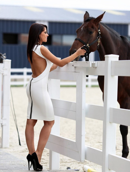 white dress backless dress