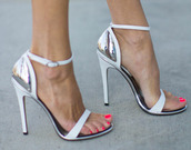 shoes,silver,white,heels,red,high heels