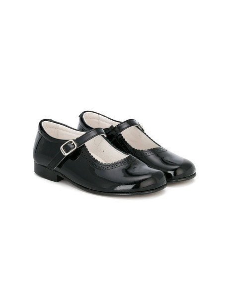 Andanines Shoes leather black shoes