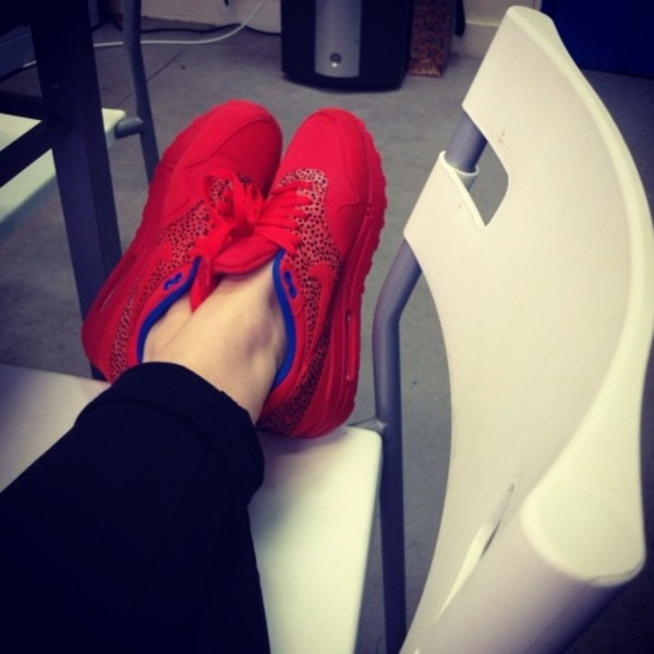 shoes nike shoes red air max
