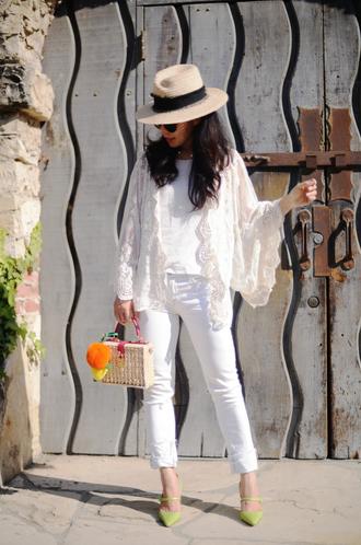 hallie daily blogger white jeans