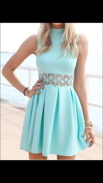 dress blue dress pastel dress lace dress