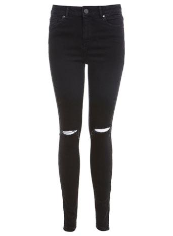 Black Razor Knee Jean - Jeans - Clothing