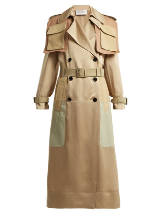 coat trench coat satin beige