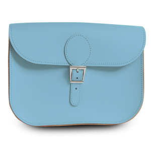 Dusk Blue Leather Satchel Bag - The Full Pint from Brit-Stitch