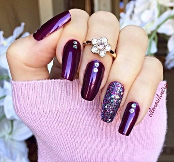 nail polish classy glamour diamonds