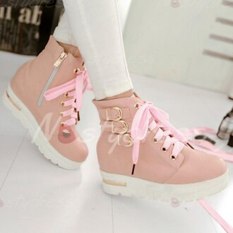 shoes pink pink shoes booties pink booties buckles and lace-up boots girl girls women womans girl shoes