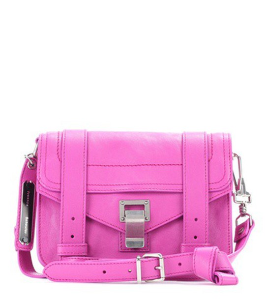 Proenza Schouler mini bag shoulder bag leather purple