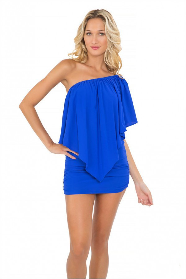 dress blue 2016 luli fama party dress electric blue dress ruffle dress bikiniluxe best seller
