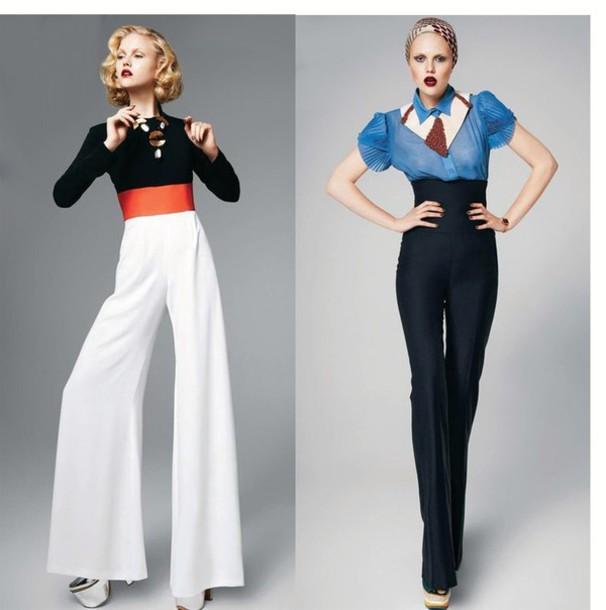 73bd07e5c5c0c pants suit high waisted wide leg wide-leg pants white wide leg pants