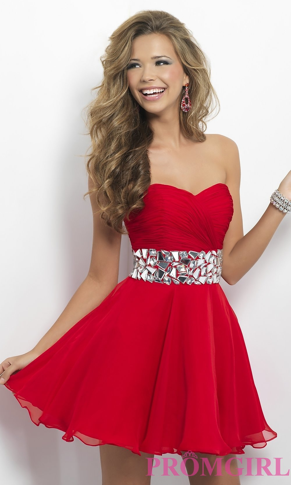 9e558565124 Strapless Homecoming Dress by Blush 9683
