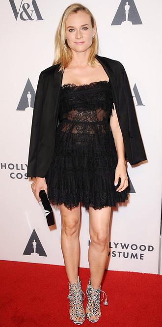 black dress lace dress little black dress diane kruger