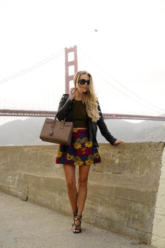 fashion addict blogger skirt top shoes bag jacket