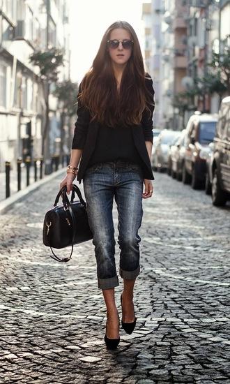 neon rock bag shoes jacket jeans sunglasses