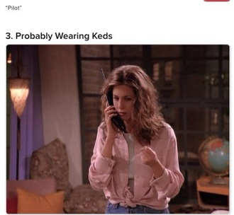 shirt rachel friends rachel friends grunge hipster 90s style 80s style style fashion jennifer aniston rachel  friends