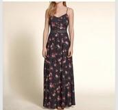 dress,pattern lace waist maxi dress