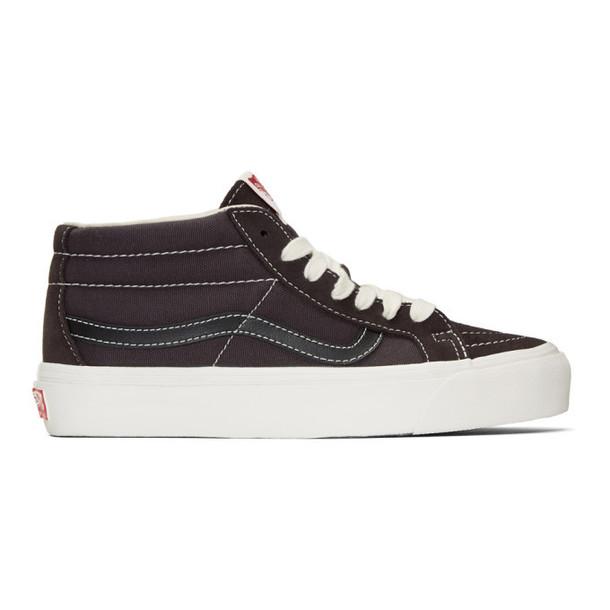 Vans Brown OG Sk8-Mid LX Sneakers