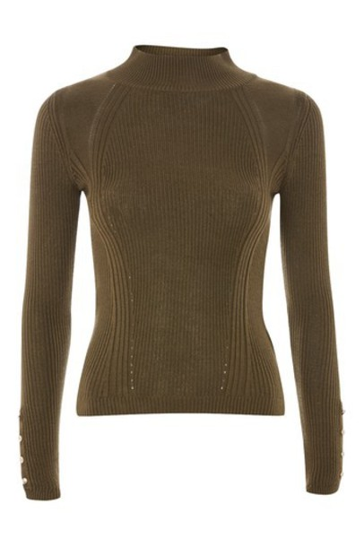 Topshop jumper khaki sweater