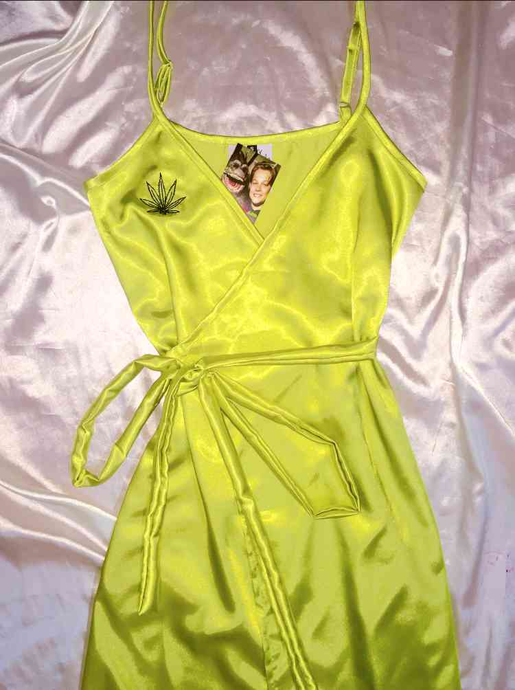 SWEET LORD O'MIGHTY! MARIJUANA SILK DRESS