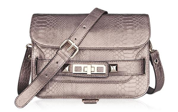 PS11 Python Shoulder Bag- Brown Taupe – Glamzelle