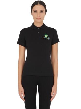 shirt polo shirt cotton black top