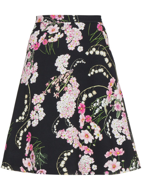 GIAMBATTISTA VALLI skirt printed skirt women black silk