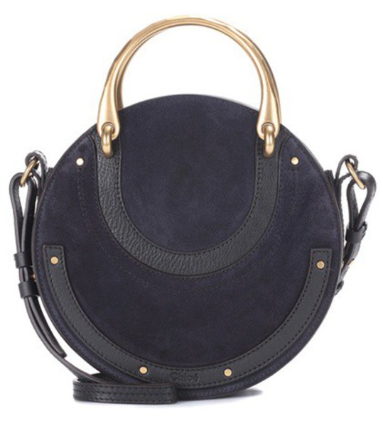 Chloe bag shoulder bag leather suede blue