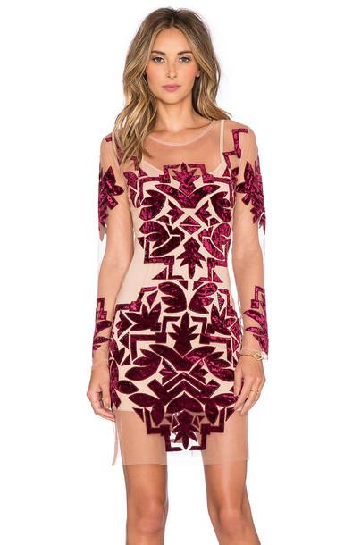 For Love & Lemons dress mini dress mini burgundy