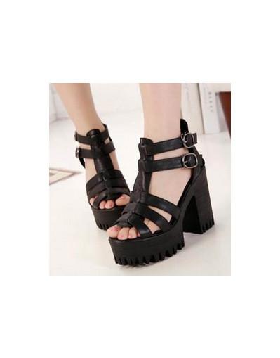 Chunky high heel heels 10 cm 10.5 11 cm black white platform sandals