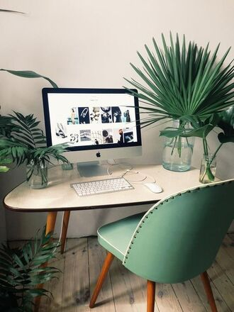 home accessory tumblr home decor furniture home furniture home office chair table plants apple