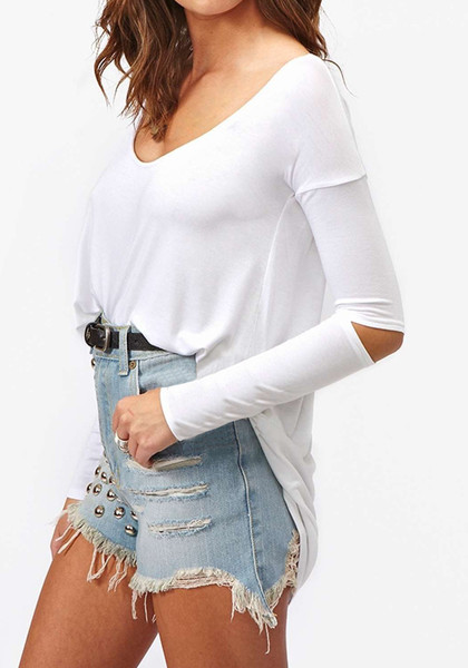 Elbow Cutout Top