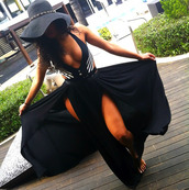 dress,black dress,white,chiffon,hat,open leg,black maxi dress,skirt,two slit,maxi dress,crop tops,slit skirt,maxi skirt,sun,beach,sexy,fashion,summer outfits,tank top,swimwear,party,party dress,classy,hot,style,cute,outfit,summer dress,sexy dress,beach dress,jewels,stripes,striped dress,striped skirt,long dress,long sleeve dress,bodycon dress,bodycon,denim,sleeve dress,romper,jumpsuit,bustier dress,corset top,top