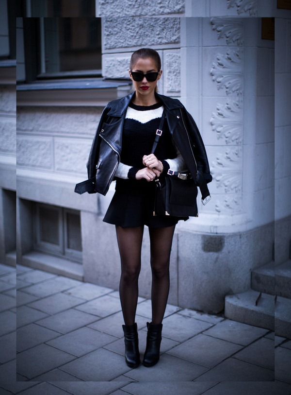 kenza sweater skirt bag jacket sunglasses jewels shoes