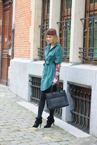from brussels with love blogger shirt gloves bag shoes tights handbag booties high heels boots fall outfits