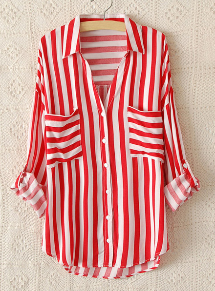 Blue ocean stripe shirt · fashion struck · online store powered by storenvy