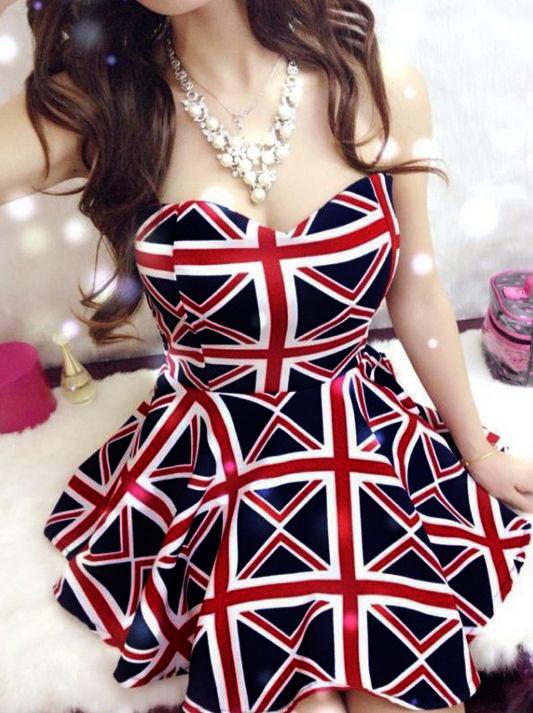 2014 new sexy nightclub retro female Wangfan Yan Mei Bra Union Jack flag dress chest wrapped-in Dresses from Apparel & Accessories on Aliexpress.com