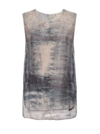 top silk dark grey