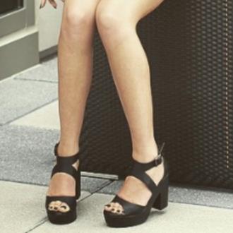 shoes black sandal heels kalelkitten grunge