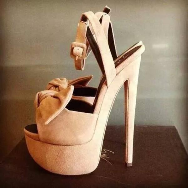 shoes platform high heels nude nude heels heels platform shoes bow peep toe wrap peep toe pumps