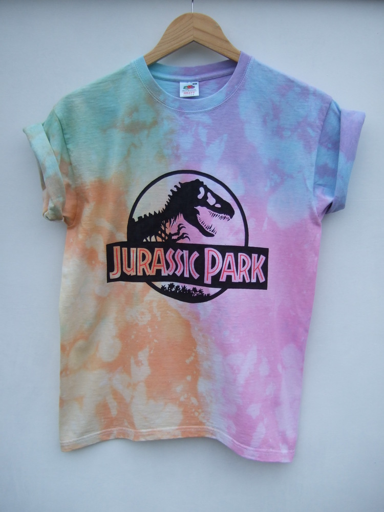 Tappington and wish — tie dye jurassic park shirt