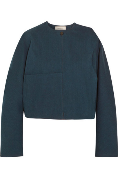 Lemaire jacket denim jacket denim oversized cropped