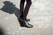 shoes,black,leather,derbies,buckle boots,balenciaga,boots,ankle boots