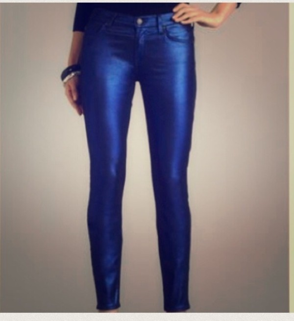 jeans skinny jeans 7 for all mankind metallic blue skinny jeans do the hotpants