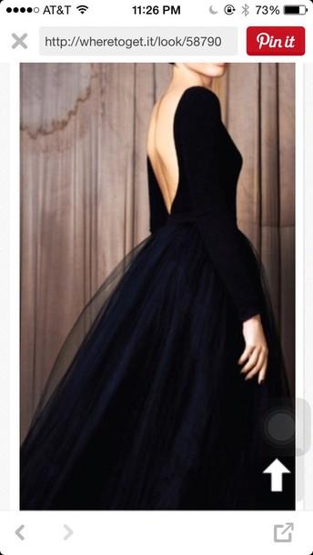 dress black ball gown dress