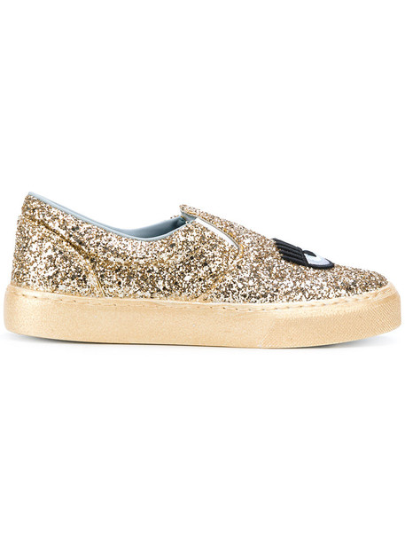 Chiara Ferragni women sneakers leather grey metallic shoes