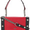 Moschino - square studded shoulder bag - women - leather - one size, red, leather