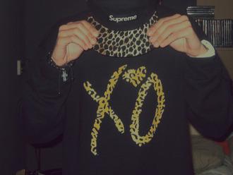 sweater snapback braclet supreme black hoodie