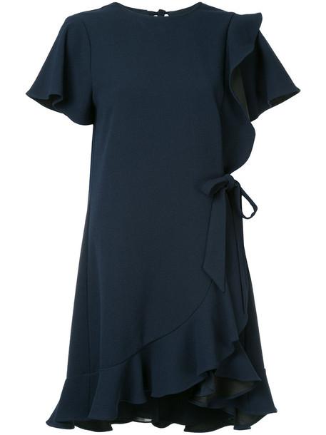 dress ruffle dress ruffle women blue