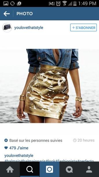 skirt gold white metallic mini skirt t gold metallic skirt