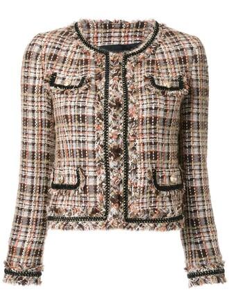 jacket women classic wool brown